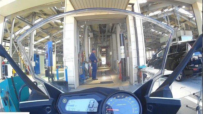 神奈川陸運支局でバイクのユーザー車検(しかも車検切れで仮ナンバーw)