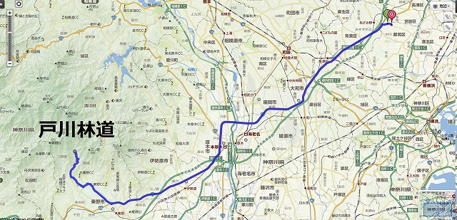 戸川林道の地図