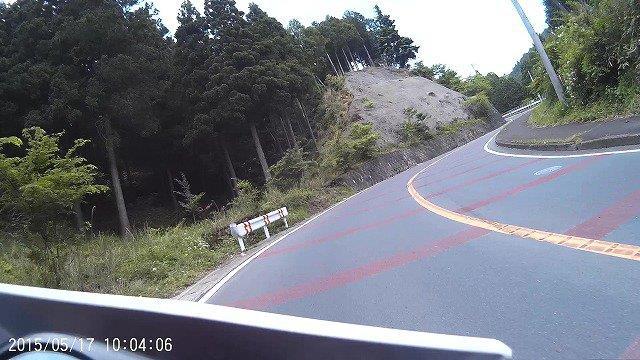 04-県道64号-デコボコ急カーブ