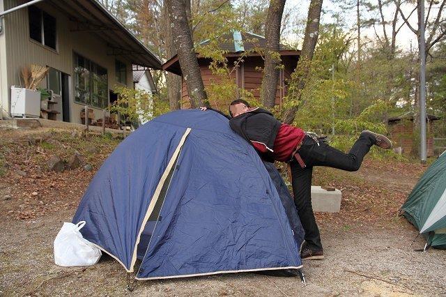 N君のテント