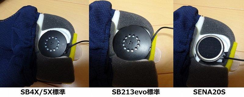 SB4X、SENA20Sのスピーカーを取り付ける