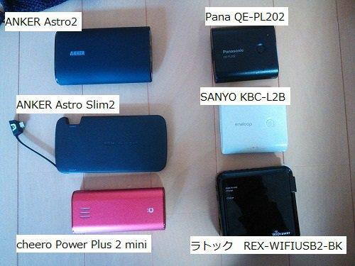 2014年5月 モバイルバッテリーの比較