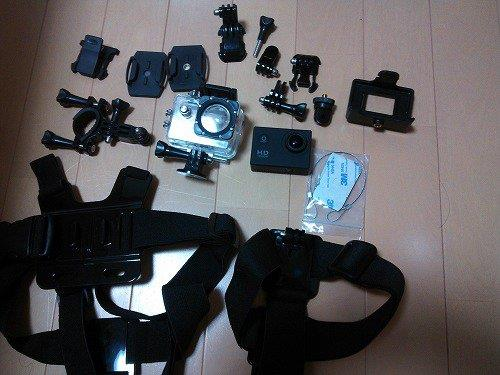 ウェアラブルカメラ(バイクのドラレコ兼任予定)SJ4000と、NECKER V1  開封+簡単レビュー