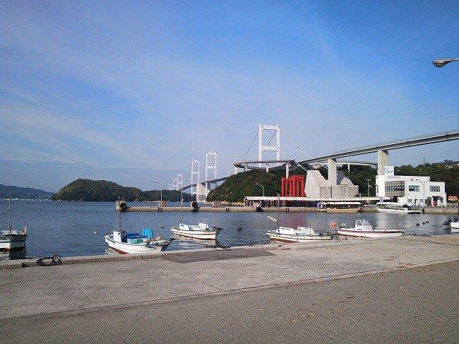 大島から見たしまなみ海道