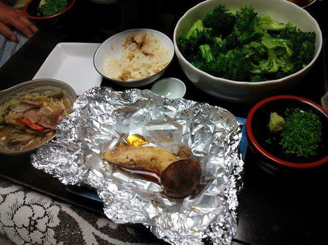 マツタケ三昧の夕飯