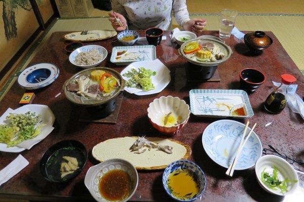 川俣での豪華な料理