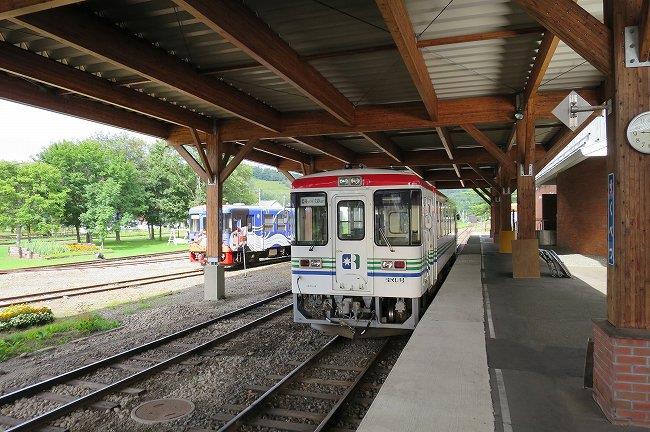 展示されている電車