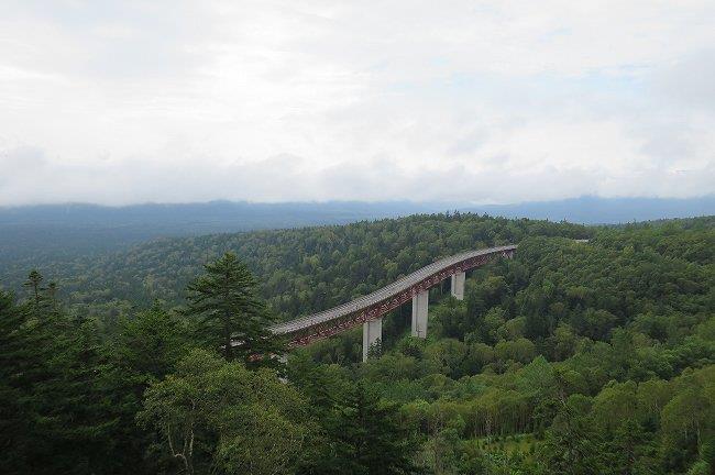 有名な三国峠の陸橋