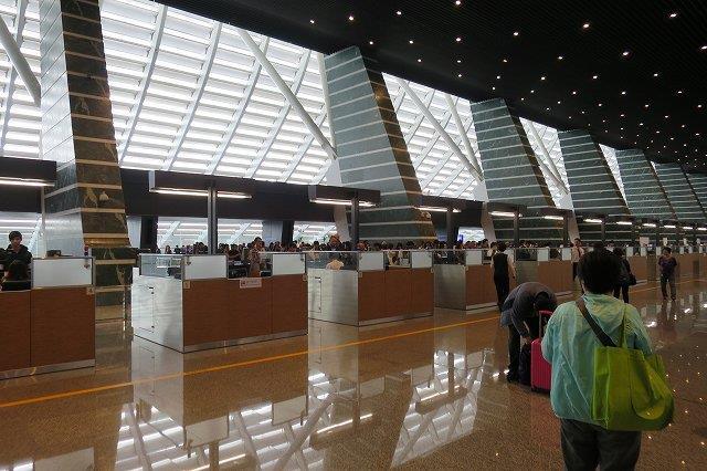 桃園空港の入国審査