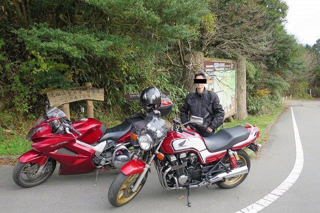 先輩とバイク