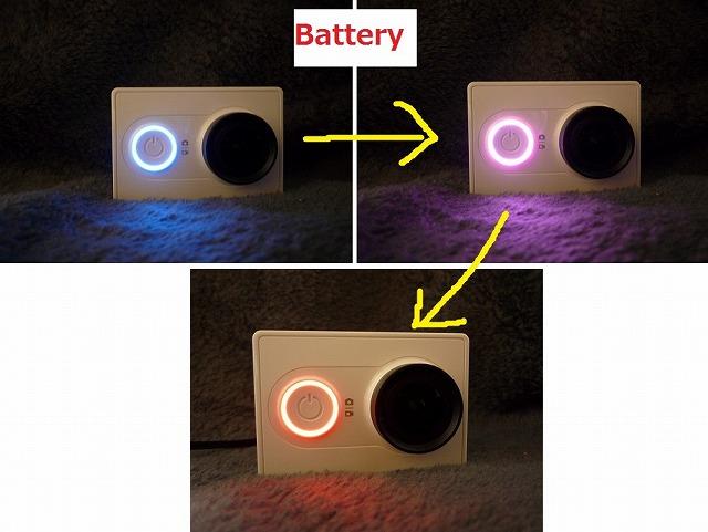LEDの色の変化