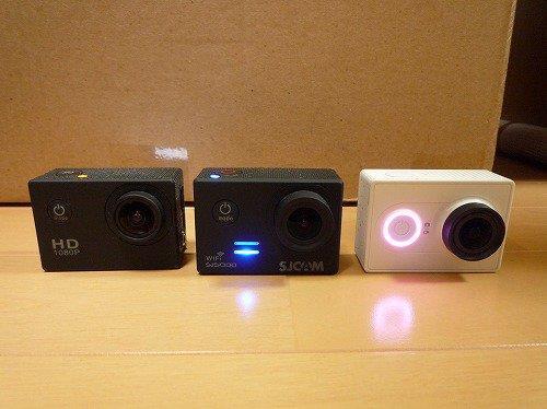 SJ4000、SJ5000、Xiaomi Yi 内蔵バッテリー撮影時間テスト