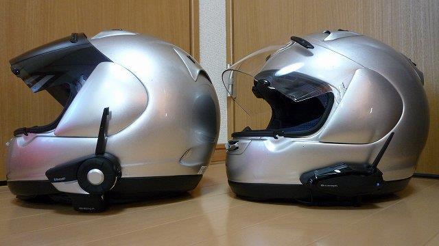 ヘルメットへ取り付け