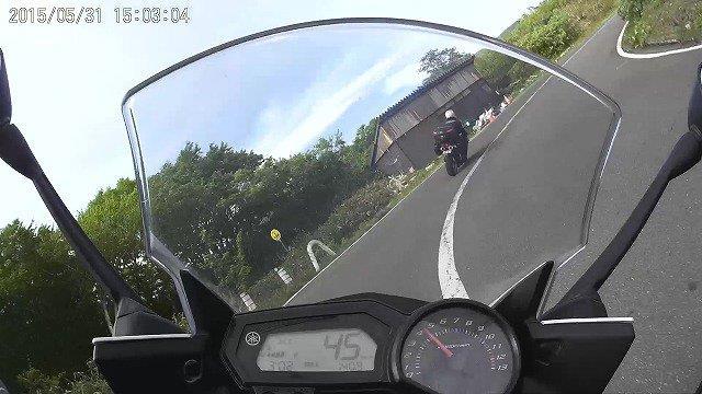 嫁のバイクから見たVFR800