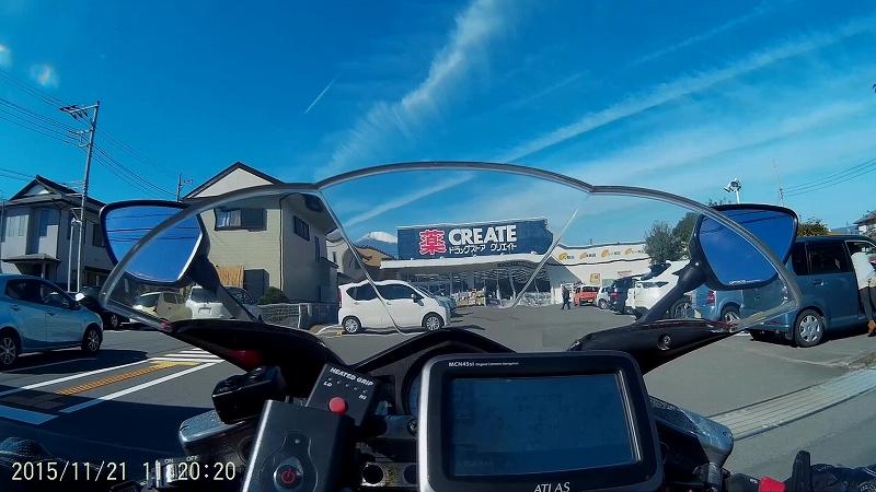 ドラッグストアーの駐車場