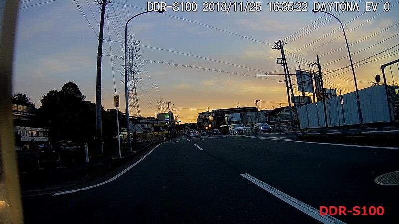 DDR-S100の夕方の画質