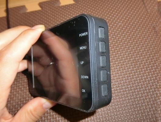 側面の操作ボタン